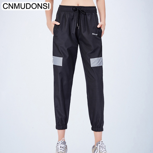 CNMUDONSI 2019 Women Pants Loose Breathable Sports Running Sportswear Sports Wear For Women Gym Sport Running Elastic Pants