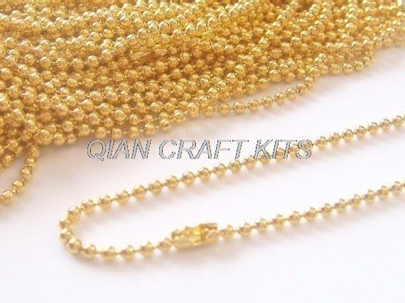 50yards gold or silverblack plated ball chains necklace 15mm great 50yards gold or silverblack plated ball chains necklace 15mm great for scrabble tilesglass tile pendantbottle caps in diy craft supplies from home aloadofball Image collections