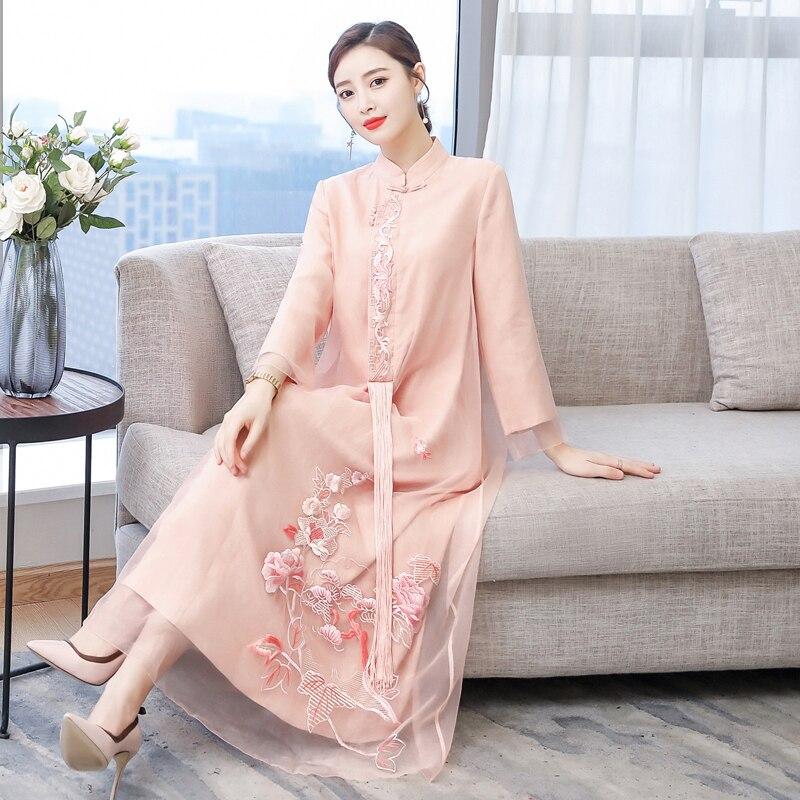 2019 verano vestido chino chica vestido de dama de honor vestidos de fiesta boda mejorado las mujeres qipao cheongsam elegante baile de graduación vestidos - 3