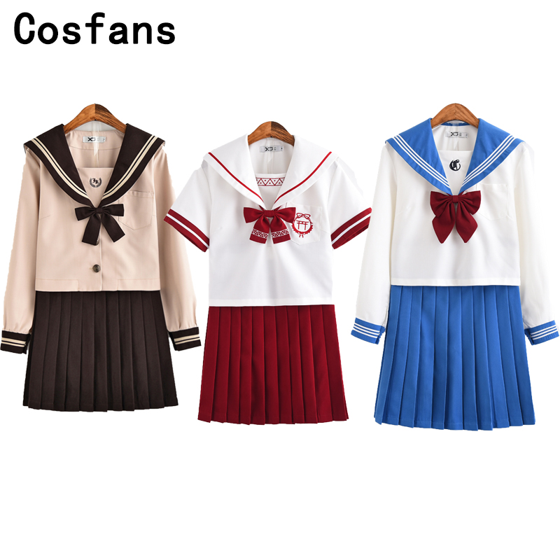 Athemis Anime Sailor Moon Cosplay Navy Sailor School Uniform Performance Costumes Kawaii Halloween Cosplay costume woman dress