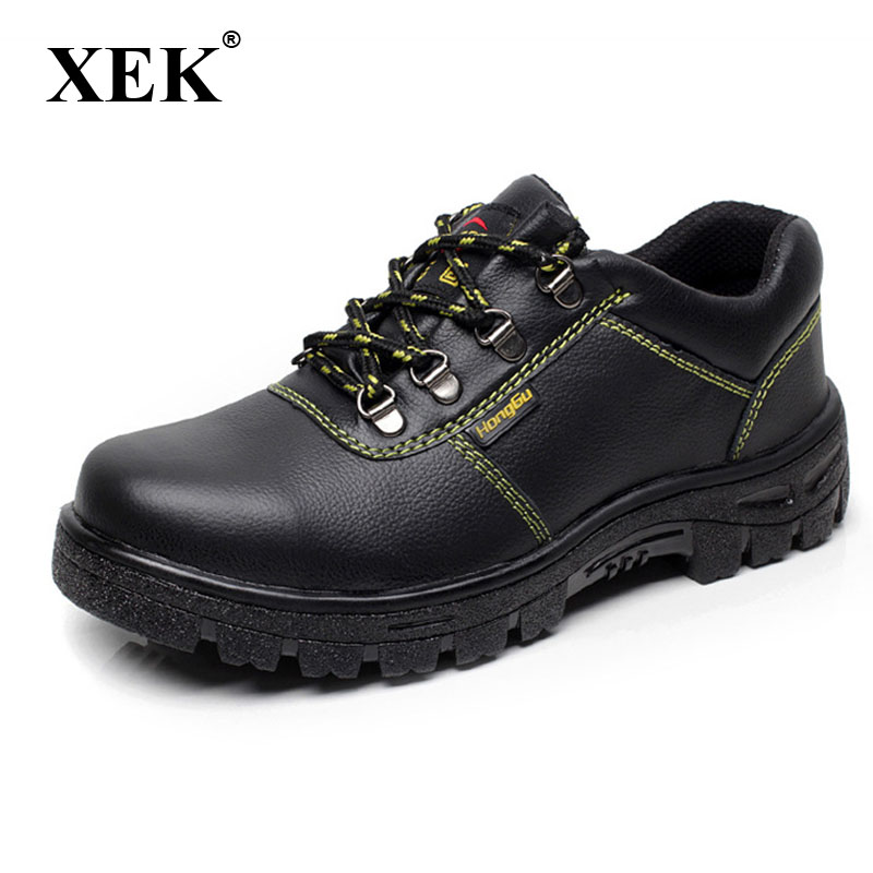 XEK Men Fashion Large Size PU Leather Steel Toe Caps Work Safety Spring Shoes Non-slip Platform Tooling Boots ZLL203XEK Men Fashion Large Size PU Leather Steel Toe Caps Work Safety Spring Shoes Non-slip Platform Tooling Boots ZLL203