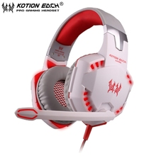 EACH G2000 Deep Bass Surrounded Sound Gaming Headphone Headset Noise reducing Headband with Mic led Light for Computer PC