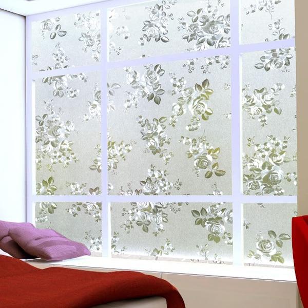 Elektrostatische stickers frosted venster roosters, geïsoleerde ...