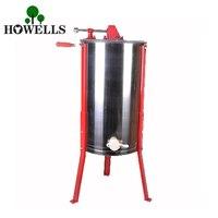 Высококачественная ручная медогонка с 2 рамами, оборудование для пчеловодства, ручная медогонка из нержавеющей стали