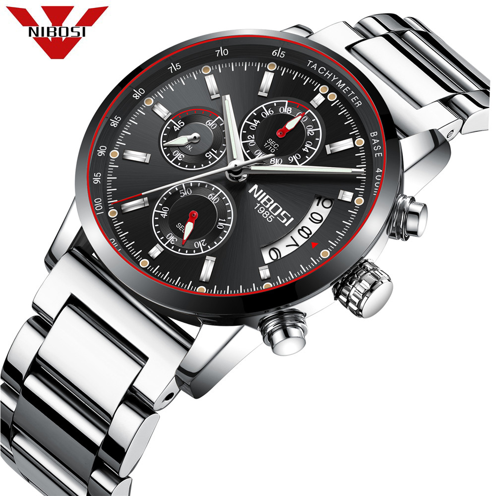 NIBOSI Watch Men Business Waterproof Clock Mens Watches Top Brand Luxury Fashion Casual Sport Quartz Wristwatch Relogio Masculin new 4u computer case 4u industrial computer case general pc motherboard monitor computer case 1 2mm