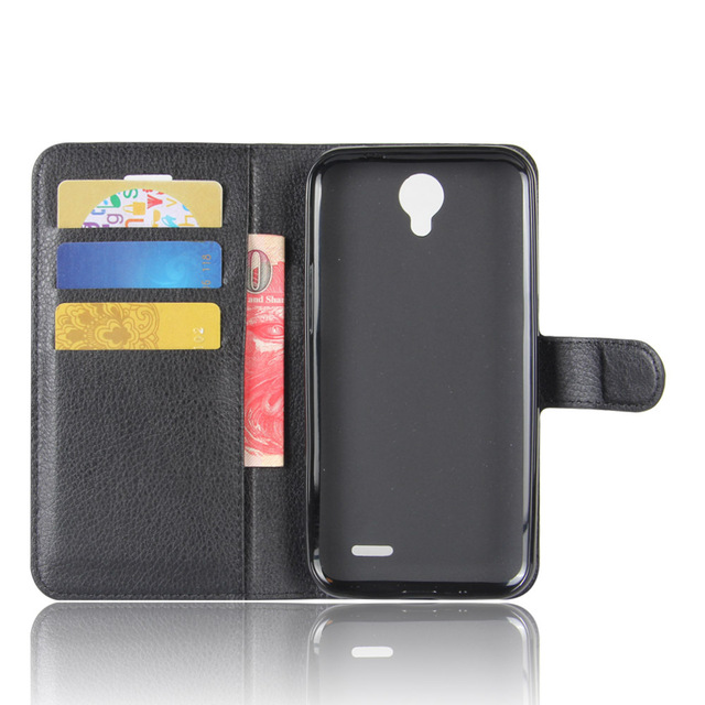 Full Coverage Leather Wallet Flip Case With Card Slot Stand Cover For ZTE Prestige 2 N9136/Maven 3 Z835/Prelude+ Z851/Overture 3