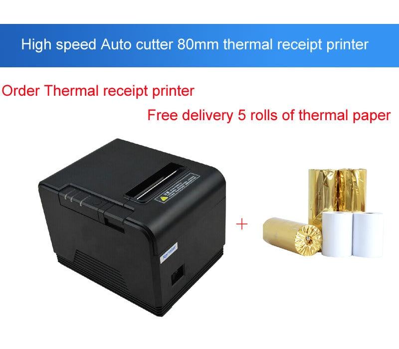 ФОТО High speed 80mm USB port Automatic cutter thermal printer pos printer Kitchen Printers