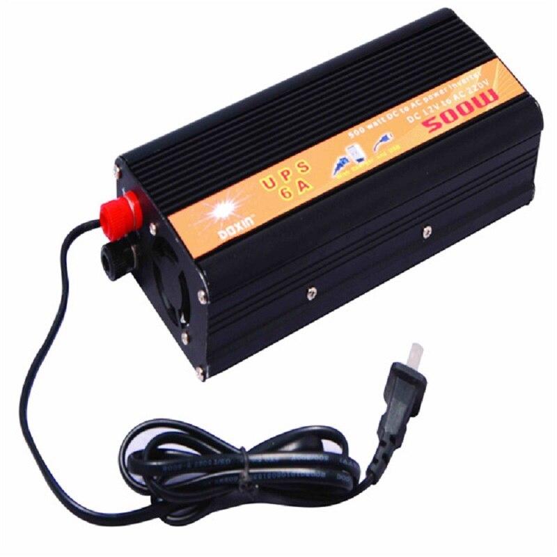Voltage converter 12V to 220V 24V to 220V High power 500W with UPS no power inverter inverter power supplyVoltage converter 12V to 220V 24V to 220V High power 500W with UPS no power inverter inverter power supply