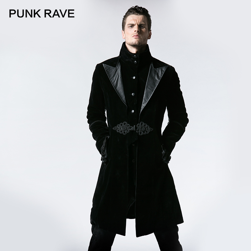 Jackets & Coats Buy Cheap Custom Mens New Steampunk Vision Gothic Jacket Long Slim Fit Wool Tunic Trench Stage Performance Coat Banquet Party Clothing Men's Clothing
