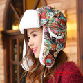 Skull Winter Hats For Women Bomber Hat Fur With Ears Cap Russian Gorras Chapeu Snow Caps Earflap Woman Winter Hat
