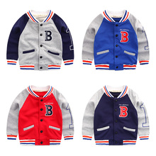 Boy's coat Han edition baseball uniform hitting scene 2016 new baby boomer children v-neck blouse during the spring and autumn