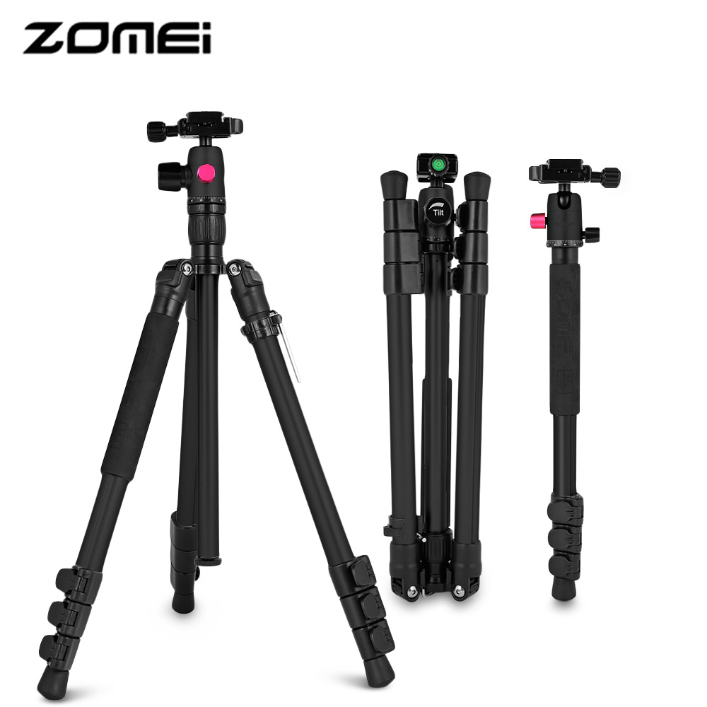 New Qzsd Q666 Portable Camera Tripod Monopod Professional Ball Beike 02 Zomei M3 Lightweight Aluminum Travel With Function