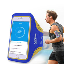 AONIJIE Outdoor Ultra Light Sport Running Bag Transparent Phone Case Cycling Arm Band Bag for iPhone 5 6 6s Plus, 4.7″/5.5″