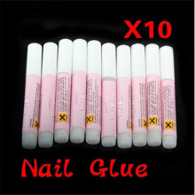 10Pcs /Set Mini Beauty Nail Glue False Art Decorate Tips Acrylic Accessories 2g  Extension