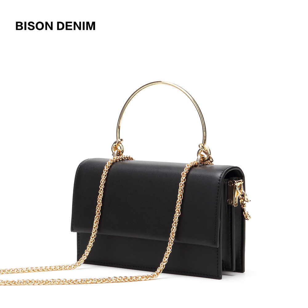 BISON DENIM New luxury handbags women bags designer Cow Leather Crossbody Bag for Women Fashion Shoulder