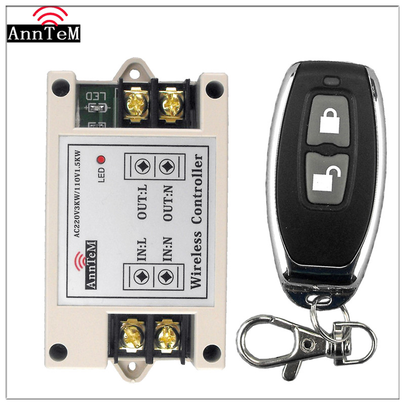 Anntem Rf 433 Mhz Sender Mini Fernbedienung Schalter Ac 220 V High Power Relais Empfänger Für Led Pumpe Motor Lernen Smart Home Unterhaltungselektronik