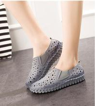 Echtes Leder Sandalen 2017 Frühling Damenschuhe Mode Sommer Schuhe Damen Schuhe Beiläufiger Breathable Schoenen Vrouw 1606