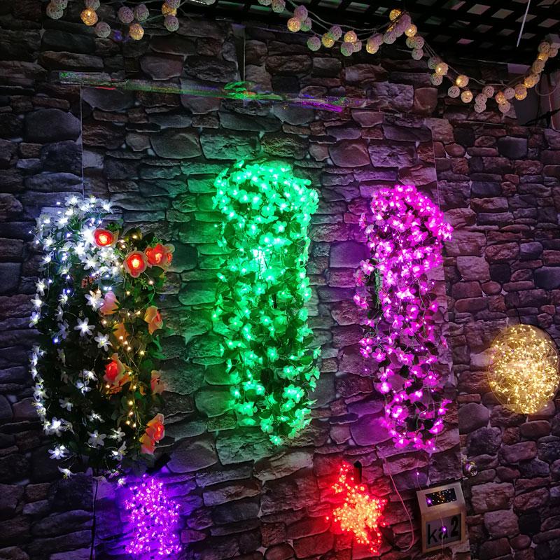 Led фиолетовый цветок свет DC 12 В адаптер светящиеся гирлянды Для свадебной вечеринки decoraitons 264 шт. огни 80 см искусственные цветы