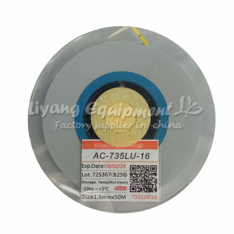 original ACF AC-735LU-16 PCB repair glue tape 50M for hot press cable machine original acf ac 11800y 16 1 0mmx100m tape