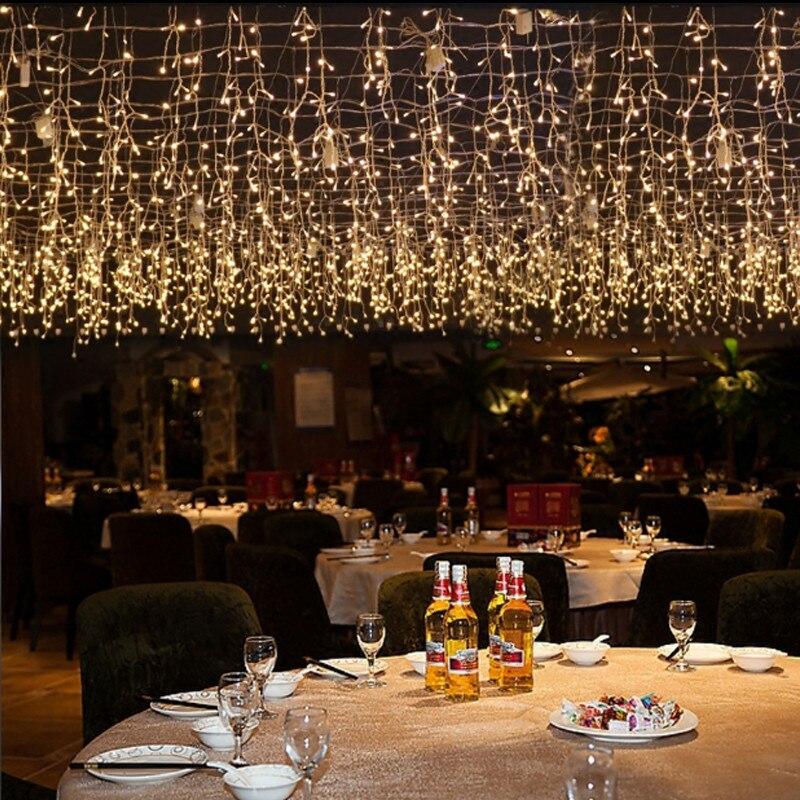 все цены на Connectable 5M Droop 0.4M 0.5M 0.6M Icicle String Lights 8 Modes LED Curtain Garland New Year Christmas Tree Wedding Fairy Light онлайн