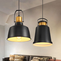 Black Pendant Light Kitchen Island Large Lamp Bar Modern Lights Bedroom Pendant Lighting Study Office Ceiling Lamp Bulb Include