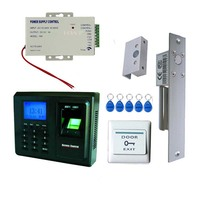 Single Glass Doors Fingerprint Access Control With Time Attendance With ID Card Reader