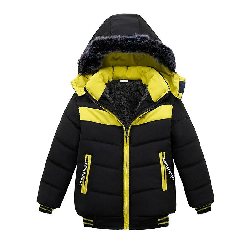 Детская куртка для мальчиков зимнее пальто 2018 осенние полосатые куртки для куртка для мальчиков Дети Теплая верхняя одежда с капюшоном пал...