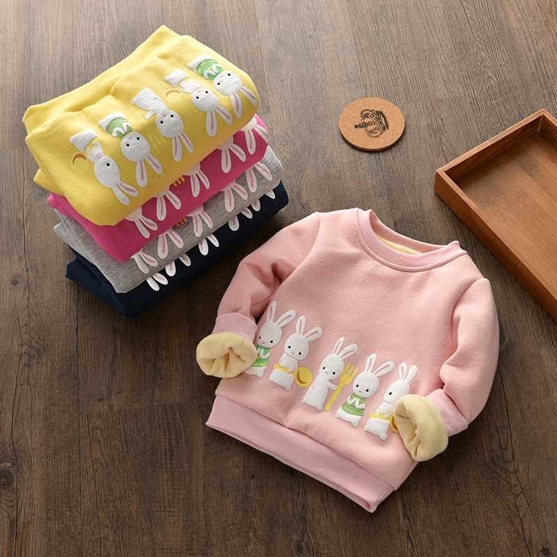2017 Autumn and winter new children s wear hedging font b sweater b font thickened plus