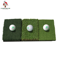 25''x16''New Portable Golf Hitting Mat Mini Golf Putting Mat Indoor & Outdoor Fairway Tri Turf Swing Training Aids