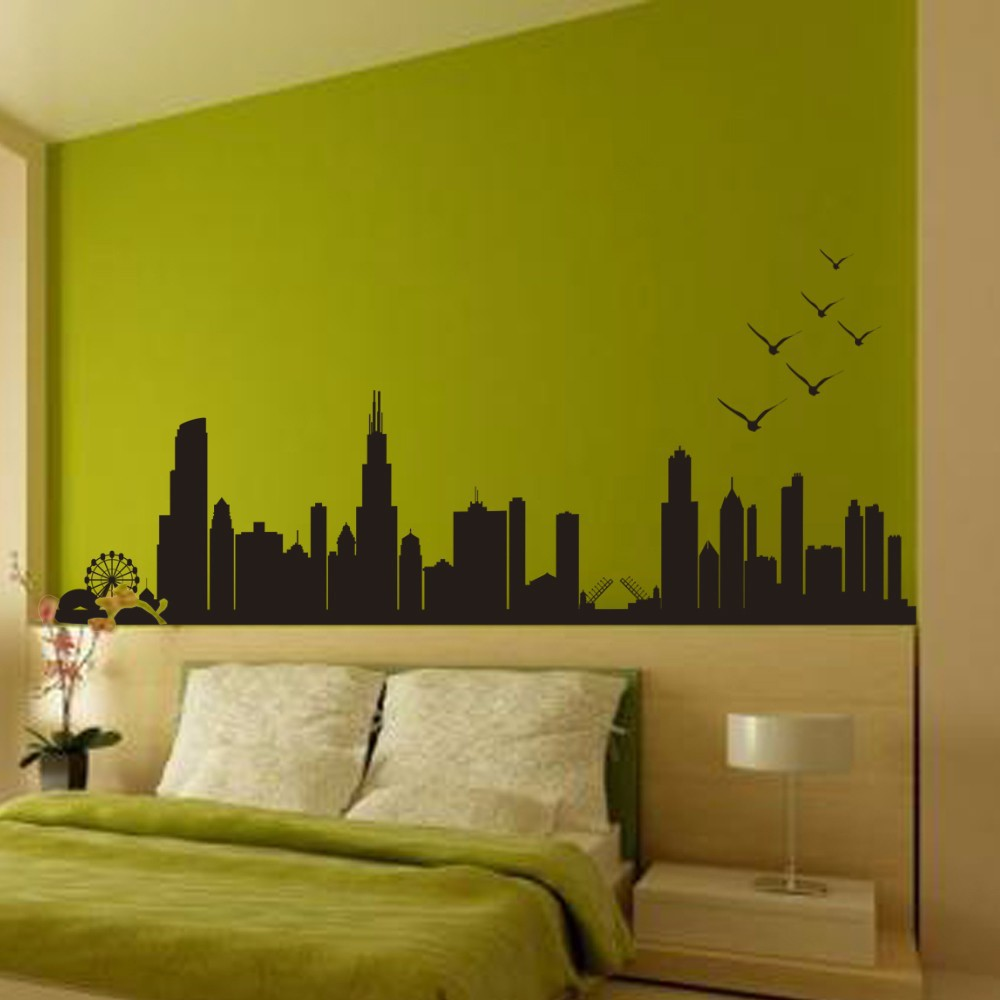 Cut Price Chicago Skyline Silhouette - Wall Decal Custom Vinyl Art ...