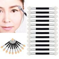 Beauty Girl 12Pcs Makeup Double End Eye Shadow Eyeliner Brush Sponge Applicator Tool
