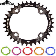 Bicycle Crank 104BCD 32T/34T/36T/38T Oval Chain ring Narrow Wide Mountain bike Chainwheel Circle Crankset Plate Bicycle Parts цена 2017