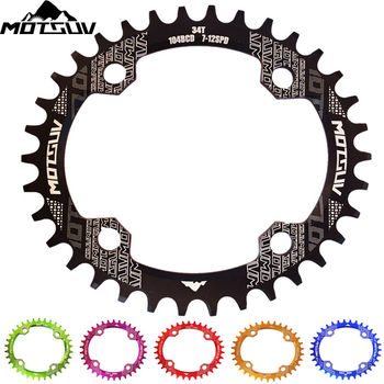 MOTSUV Bicycle Crank 104BCD 32T/34T/36T/38T Oval Chainring Narrow Wide MTB bike Chainwheel Circle Crankset Plate Bicycle Parts carbon steel 48t bike crankset 104bcd chainring bike crank chain ring mtb road bike chainwheel for shimano slx xt 7 8 9 speed