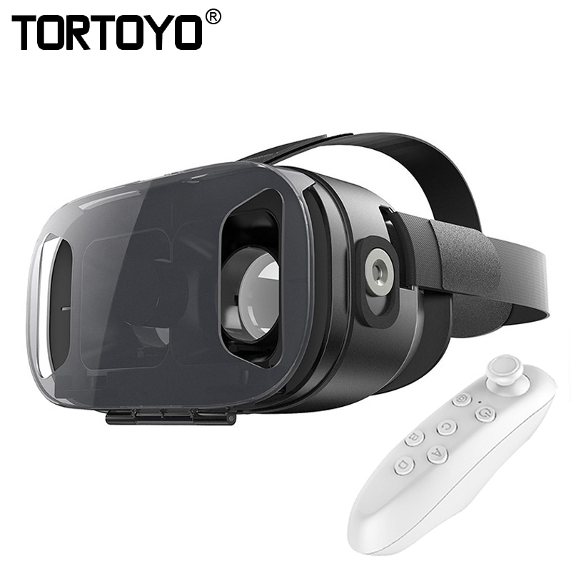Smart VR Virtual Reality VR Box HD 3D Glasses Private Cinema 3D Movie Game Helmet with Bluetooth Gamepad For 4 6 Smart Phone