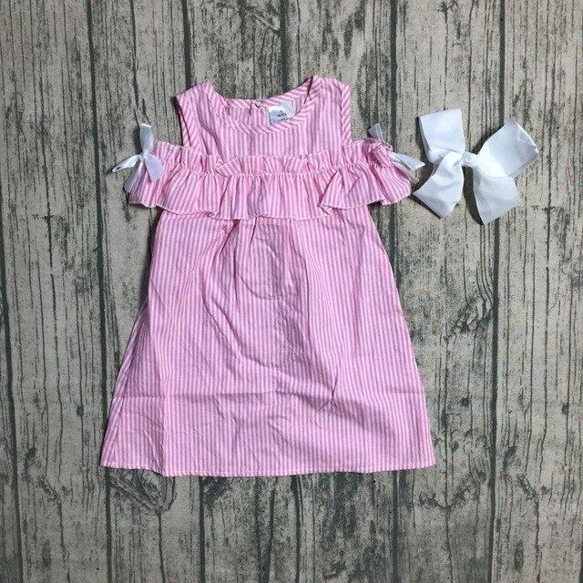 baby girls summer 4th of july dress clothing girls stripe dress girls soft milksilk dress children girls party dress kids wear