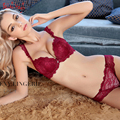 French Lace Bra Briefs Set Sexy Bombshell Push Up Women Underwear Set Black White Red 32-38 A B C Lingerie Set Intimates