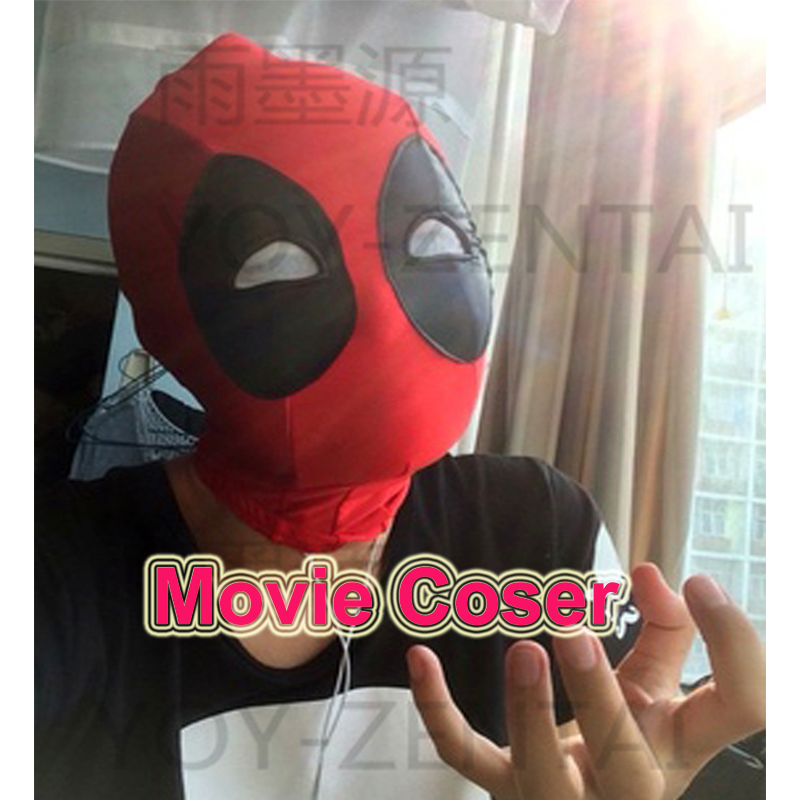 YOY-ZENTAI  High Quality Super Hero Deadpool Rubber Coating Eyes Adult Cosplay Spandex Mask Movie Cosplay Mask