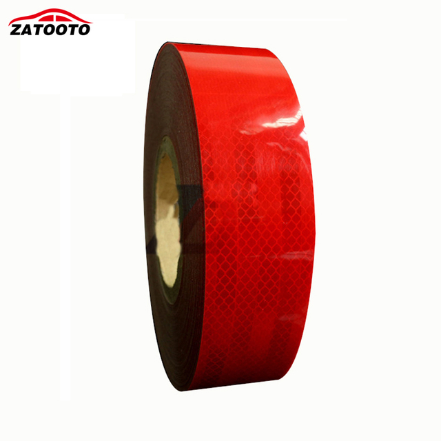 "2""*150' High Quality Red Trailer Reflective Warning Conspicuity Tape conspicuity strips Trailer Truck Safety"