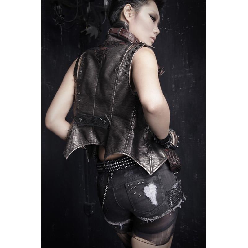 Metal Pesado S Rave 127 Negro Caliente Visual 3xl Cadena Cortos Algodón K Jeans Punk Kei Gótico Remaches Pantalones Moda De Agujero Rock Swq6B17S