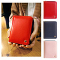 Hot Fashion Korean Women Ladies Girls Crown Wallet Short Card Holder Zipper Coin Purse Hit Color Clutch Wallet Carteira