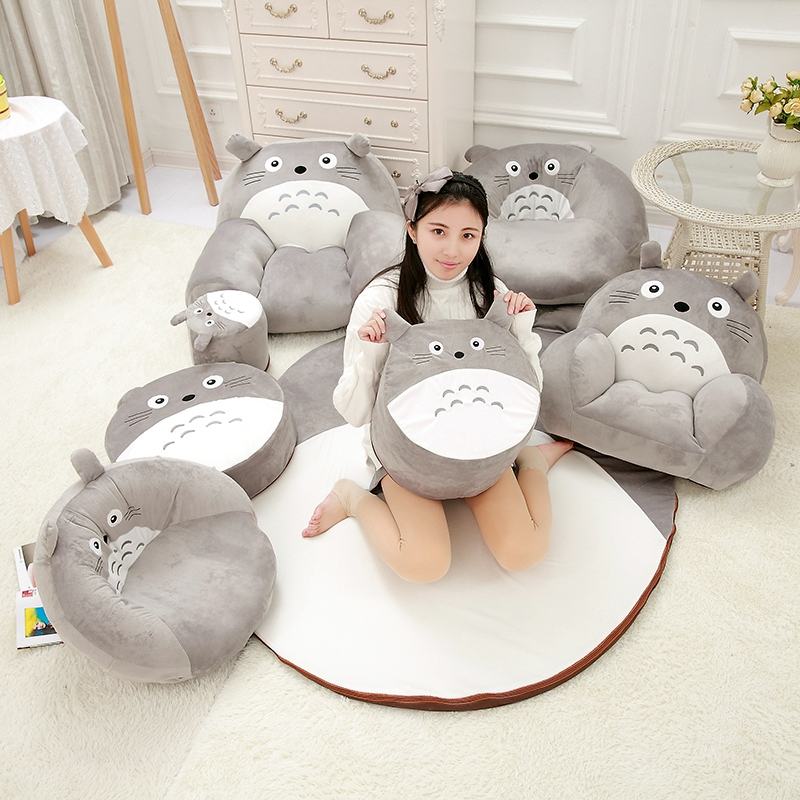 Cartoon Totoro Stuffed Baby Sofa Infant Chair Plush Cute Japan Anime Doll Toys Sofa Bed For Kids 1,5M Baby Play Mat Floor Mat