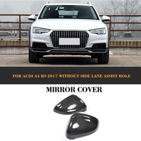 Carbon Fiber Auto Car Rear Rear view Mirror Covers Caps for AUDI A4 A5 S4 S5 B9 Avant Allroad quattro 2017 2018 2019 Replacement