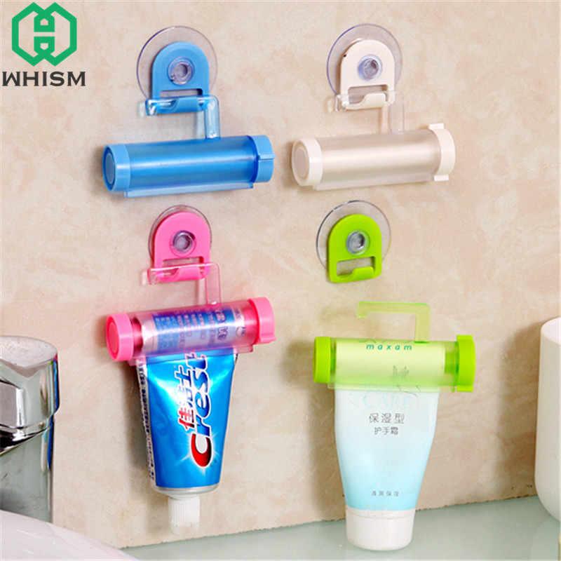 WHISM прокатный пресс для зубной пасты пластиковый диспенсер для зубных паст трубка присоска моющее средство подвесной держатель аксессуары для ванной комнаты