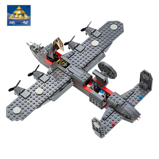 Original Box Home And Office Furnishing Articles Models Toys Boys Girls Building Blocks Kazi84007 Air Force Military G-1 Scout