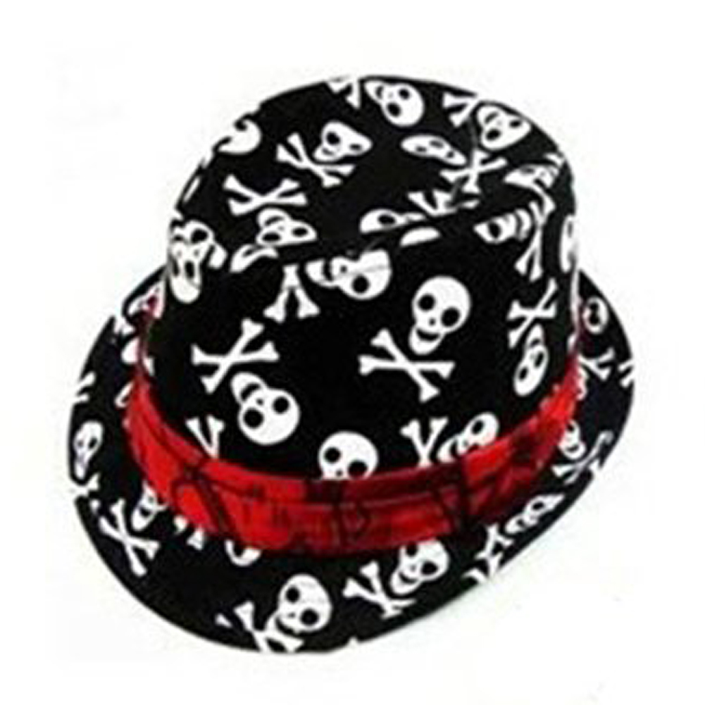WHOLESALE Kids Baby Boys Girls Cap Fedora Hat Black with Skull Pattern-in  Hats   Caps from Mother   Kids on Aliexpress.com  905935b5444