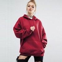 2017 American Apparel Fashion Ladies Hoodies Sweatshirts Solid Long Sleeve New Sweatshirts Pullovers100 High Quality