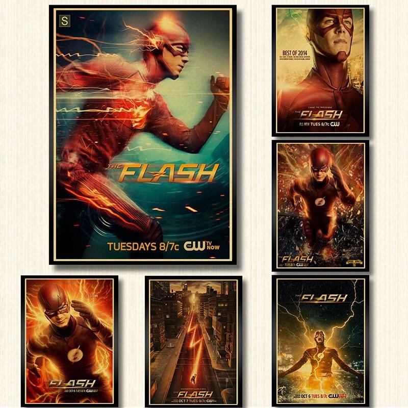 DC Comics TV Series The Flash Poster Kraft Paper Print Wall Art Painting Home Decor Vintage Poster Wall Sticker