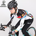ГОРНЫЙ ПИК тонкий флис с длинным рукавом велосипедные костюмы осень и зима горный велосипед езда набор Ropa De Ciclismo Invierno Mujer