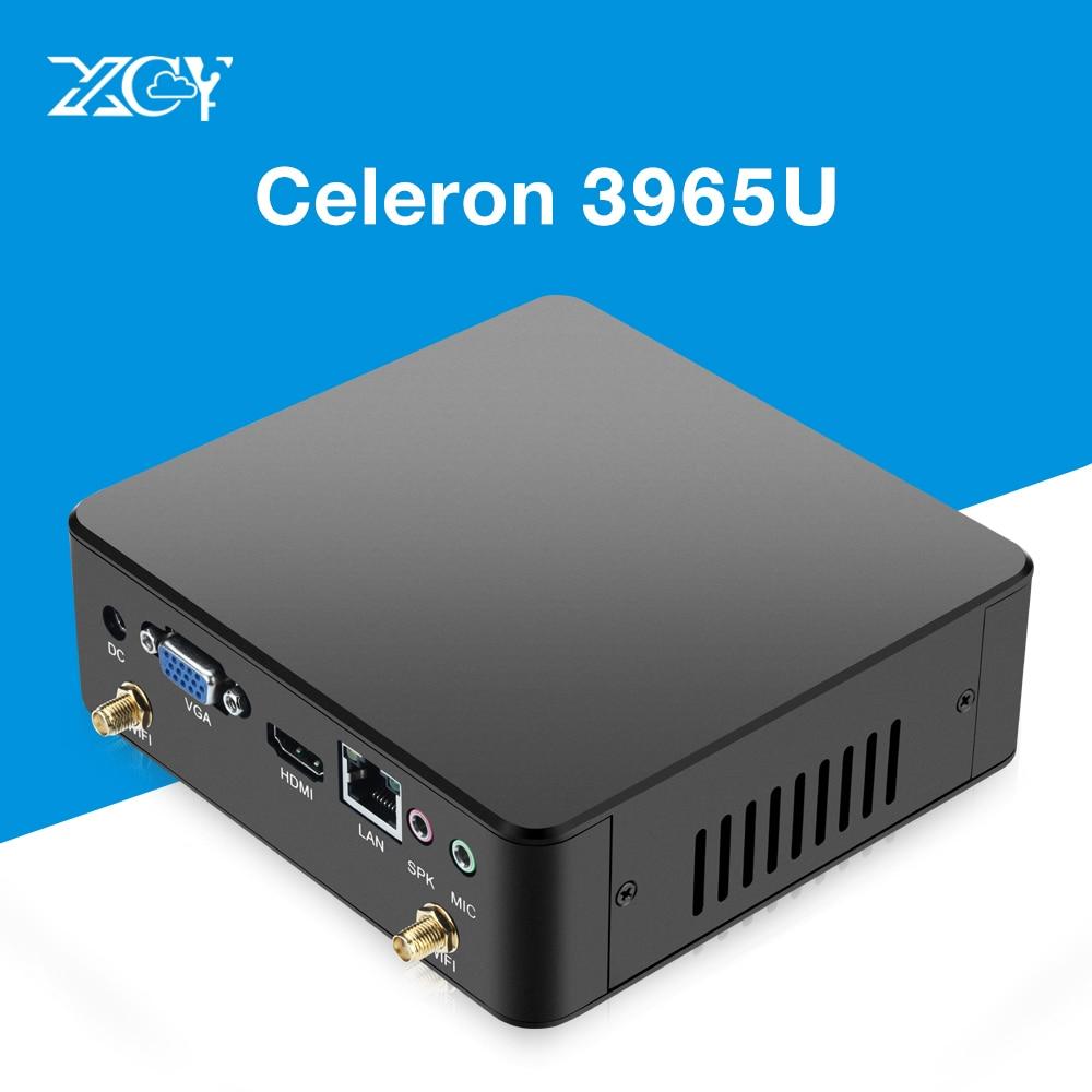 Mini PC Celeron 3965U 4 k HDMI VGA DDR3L USB3.0 WiFi 8g RAM 240g SSD Pfsense Micro PC NUC Ultra Compact Silencieux Windows Intel PC