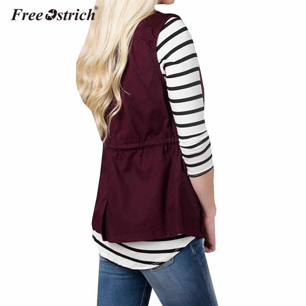 ... Free Ostrich Vest Winter Warm Sleeveless Slim Military Anorak Vests  Solid Pockets Zipper Gilet Chalecos Para ... e978609048fc
